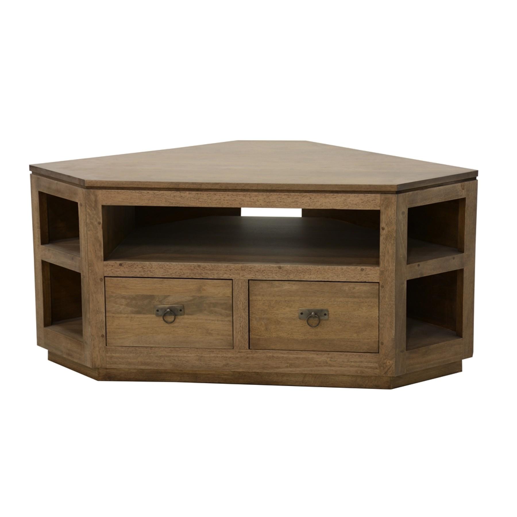 meuble tv angle 2 tiroirs 5 niches maya par nomadde mobilier design