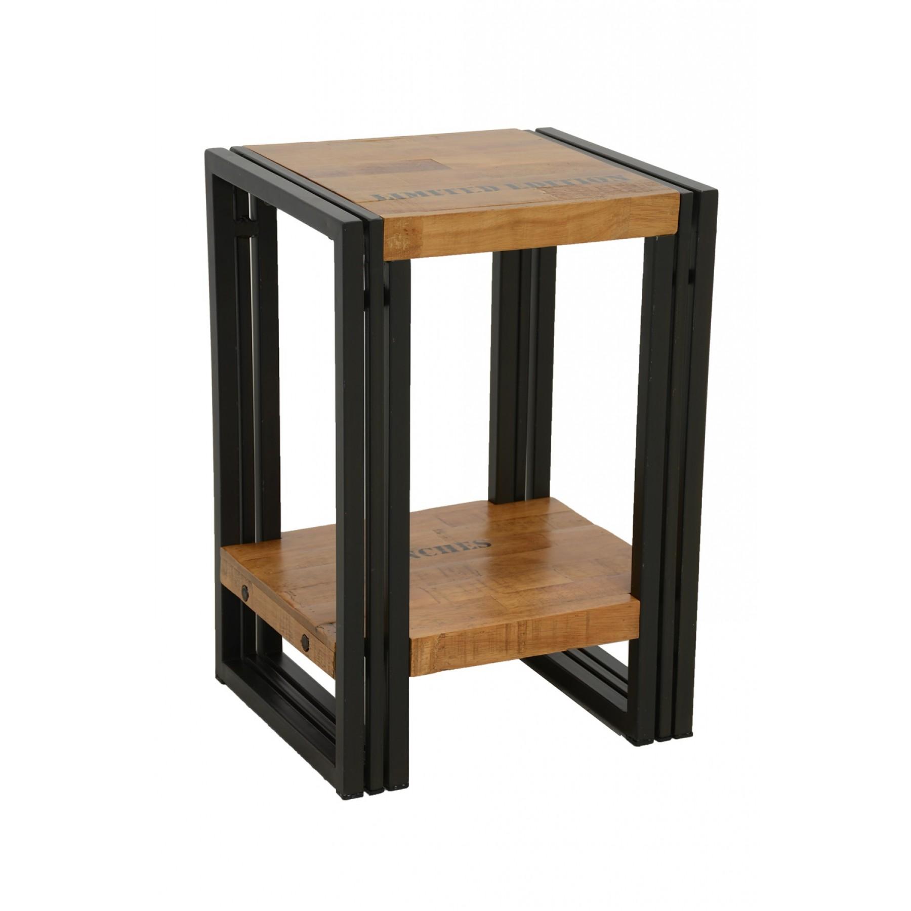 Naturelle Table Angle De Petite Finition Et Fer Canapé Design Avec Inscription Étagère Bois Ok8nPX0w