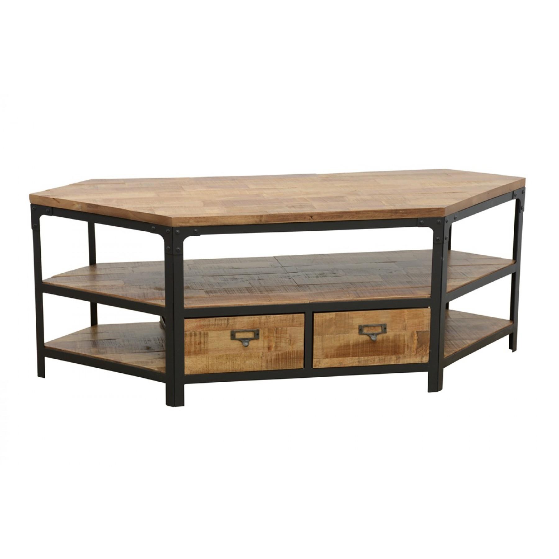 meuble tv d 39 angle 2 tiroirs wolof par nomadde meubles design