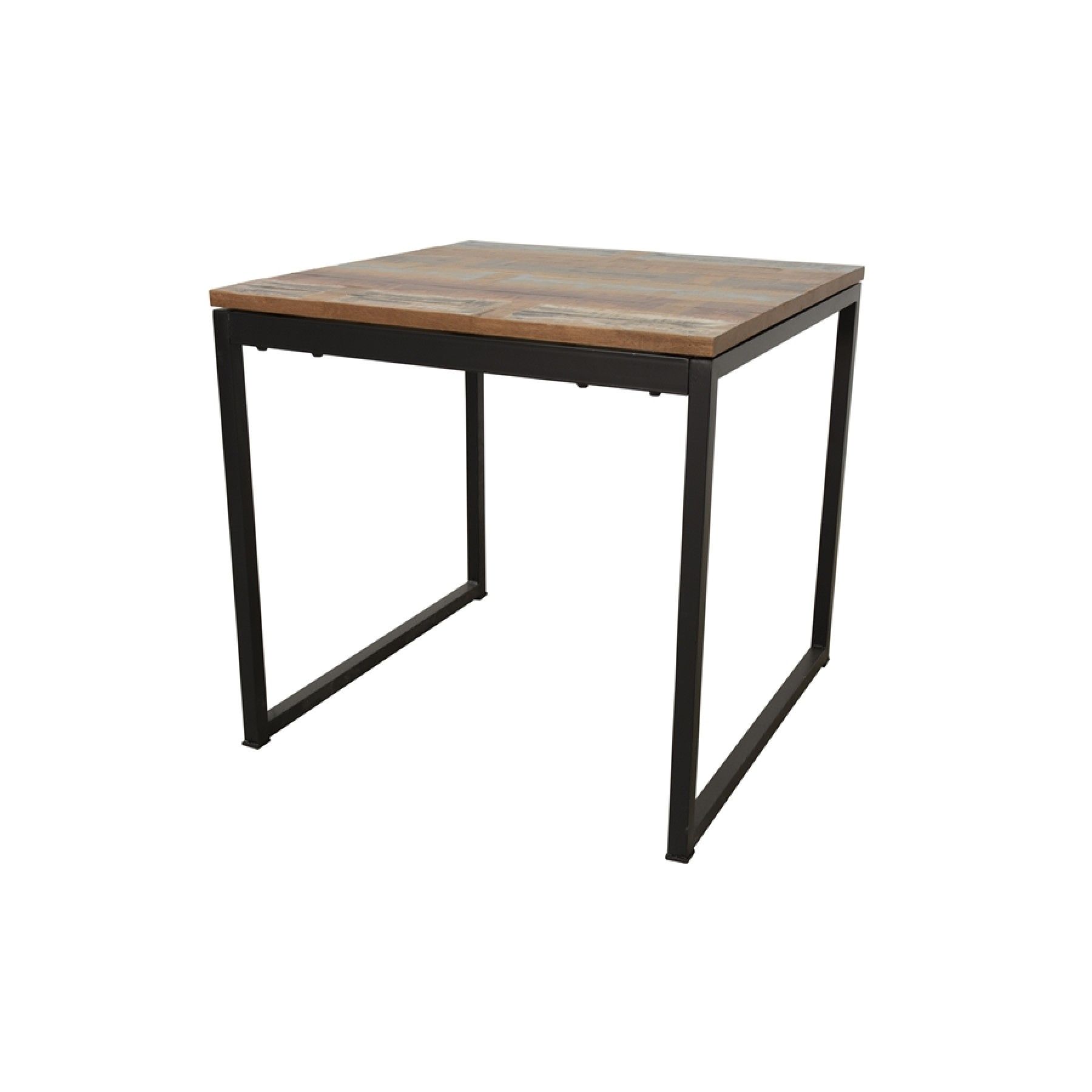 Table Carree Finition Recyclee Longueur 80 Cm