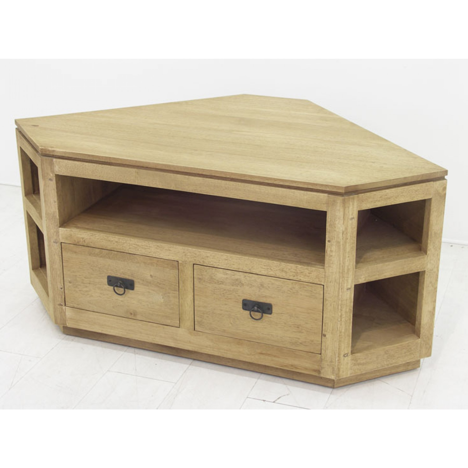 Meuble TV angle 2 tiroirs 5 niches Maya par Nomadde - mobilier design