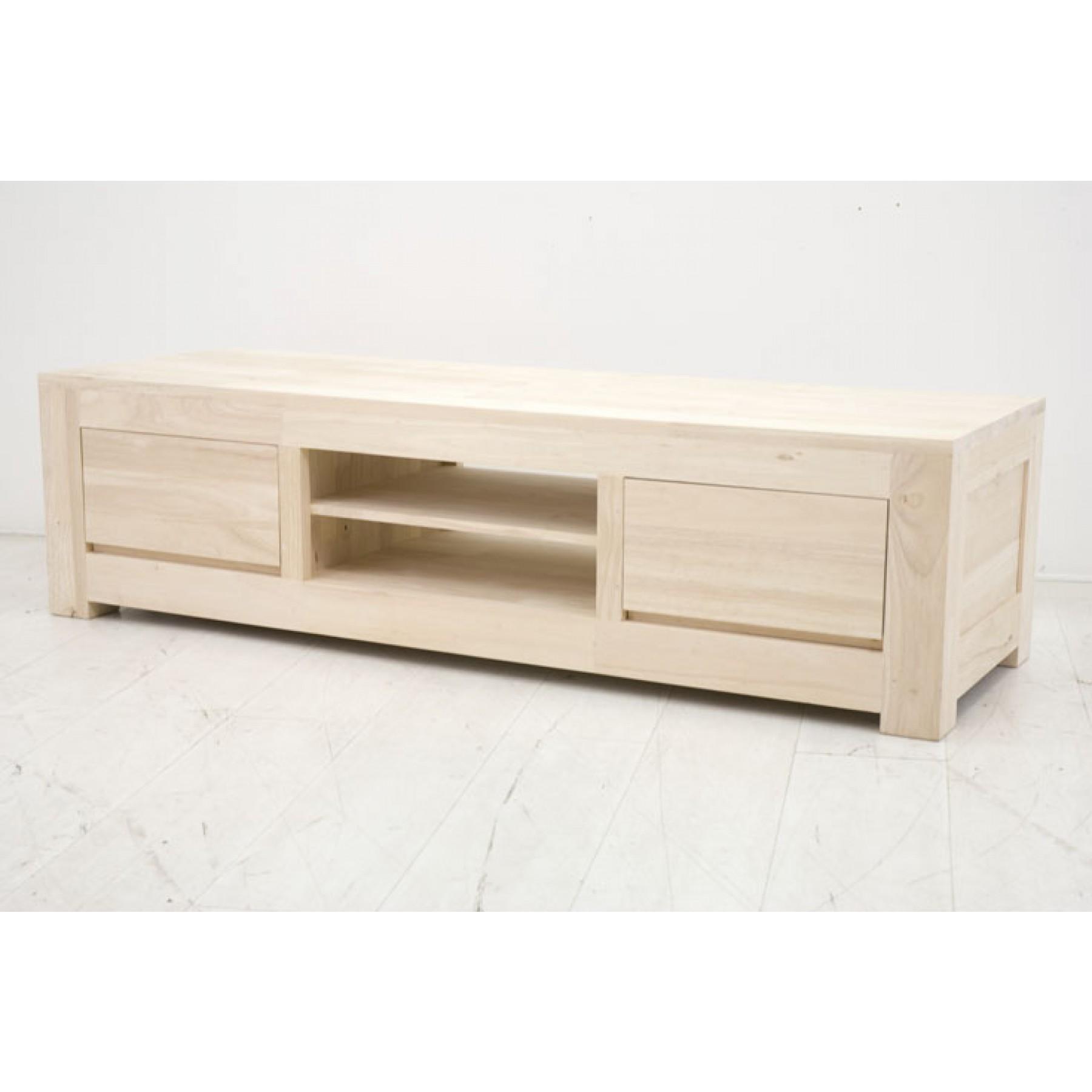 meuble tv bas en bois massif par nomadde meubles design. Black Bedroom Furniture Sets. Home Design Ideas