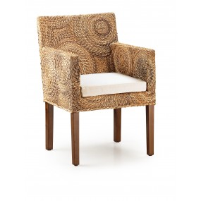 FAUTEUIL APACHE BANANE CERCLES AVEC COUSSIN 56*60*85