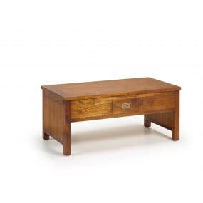 TABLE BASSE MAORI 2 TIROIR TOP LEVABLE 110*56*45-65