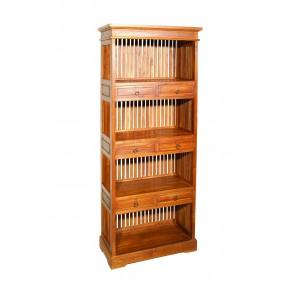 Etagère 6 tiroirs bois Teck
