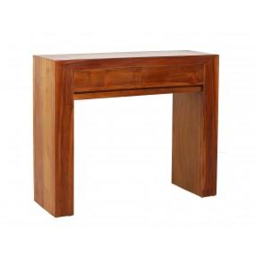 Console moderne 2 tiroirs bois Teck