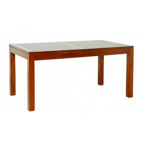 Table à manger rallonge 160/200 cm bois Mindi