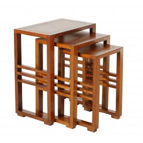Table gigogne bois Mindi