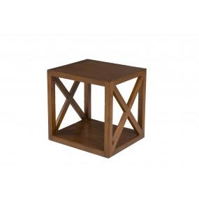 Etagère bois Mindi 40 cm 1 case croisillon