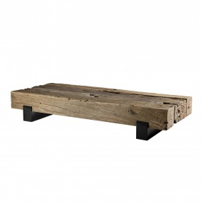 Table basse traverse bois massif