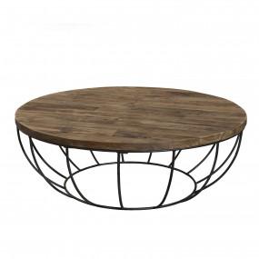Table basse bois coque noire 100 x 100 cm