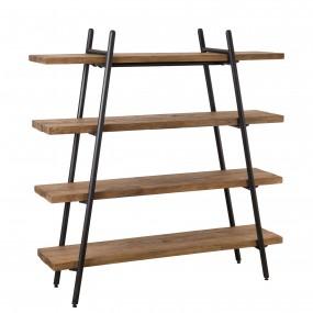 Etagère pyramidale 4 niveaux bois Teck recyclé et métal