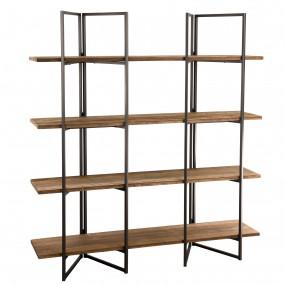 Etagère 4 niveaux bois Teck recyclé Acacia Mahogany et métal
