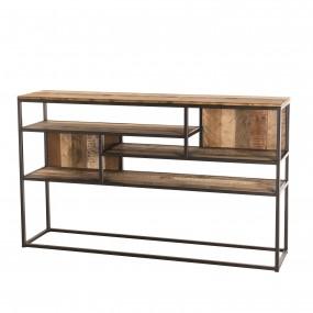 Console 4 niveaux Teck recyclé bois Acacia Mahogany et métal