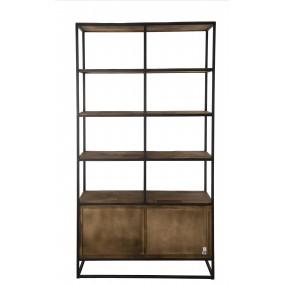 Etagère 4 niveaux 4 tiroirs bois Teck recyclé et métal