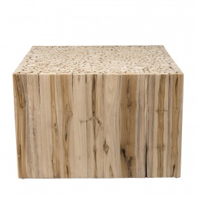 Table basse carrée bois nature branches Teck