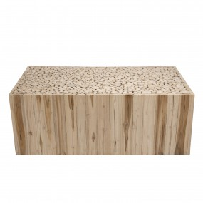 Table basse rectangulaire bois nature branches Teck
