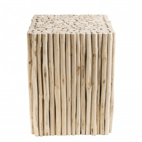 Table d'appoint carrée bois nature petites branches