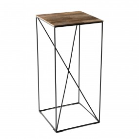 Table d'appoint MM bois Teck recyclé et métal