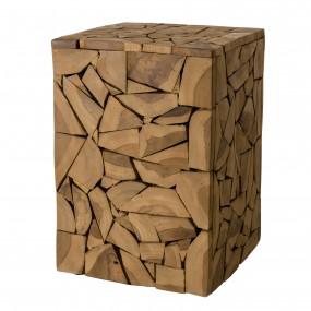 Table d'appoint carrée mozaïc 30x30cm bois Teck