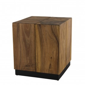 Table d'appoint carrée 38x38cm bois Suar