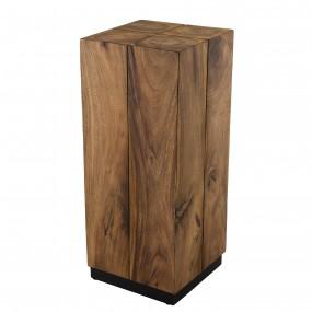 Table d'appoint carrée haute 38x38cm bois Suar