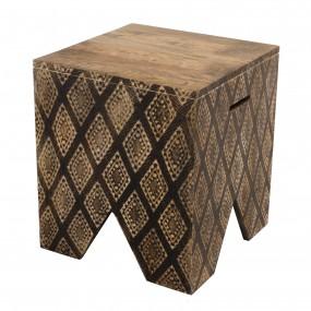 Tabouret carré bois Manguier 40x40cm Ko-Mak