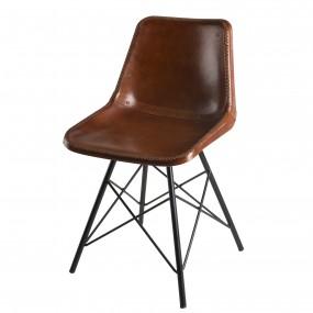 Lot de 2 chaises cuir pieds métal scandi