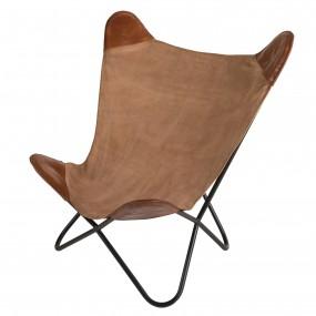 Chaise butterfly en toile et cuir