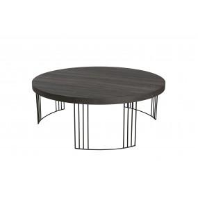 Table basse ronde 95 x 95 cm pieds métal
