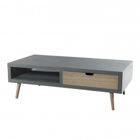 Table basse 1 niche 2 tiroirs