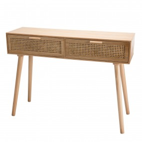 Console couleur naturel 2 tiroirs cannage