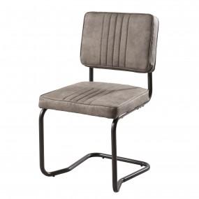 Lot de 2 chaises tissu taupe