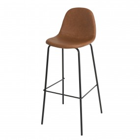 Lot de 2 tabourets de bar John marron hauteur d'assise 80cm