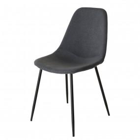 Lot de 2 chaises tissu anthracite pieds métal