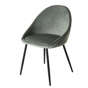 Lot de 2 chaises velours jade pieds métal