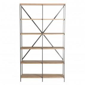 Etagère 5 niveaux bois et métal