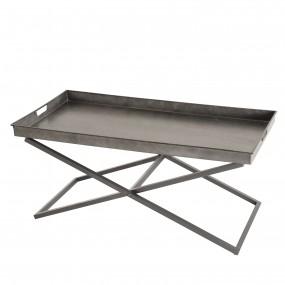 Table basse plateau Zinc pieds croisés métal