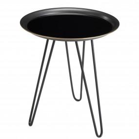 Table d'appoint ronde métal noire et dorée