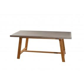 Table à manger rectangulaire 180 x 90 cm bois et béton