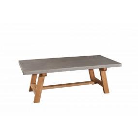 Table basse 120 x 60 cm bois et béton
