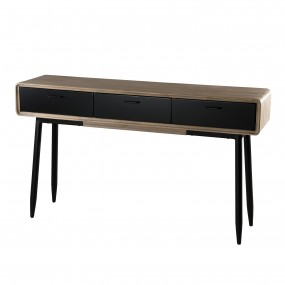 Console 3 tiroirs bois et métal
