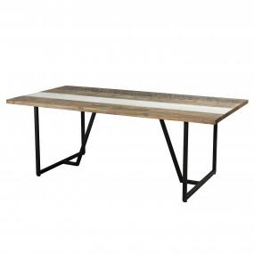 Table à manger 200 x 100cm bois et pieds en métal