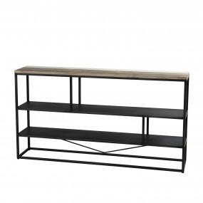 """Etagère """"S"""" 160 x 90cm 3 niveaux bois et métal"""