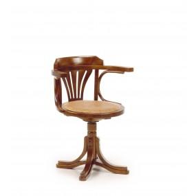 Chaise Pivotante cuir rotin MAORI 62*52*78 cm