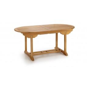 TABLE TECK NATUREL TOUAREG OVALE EXTENSIBLE 170-220*90*75