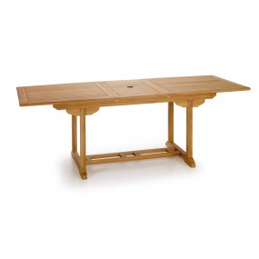 TABLE TECK NATUREL TOUAREG RECTANGULAIRE EXTENSIBLE 170-220*90*75