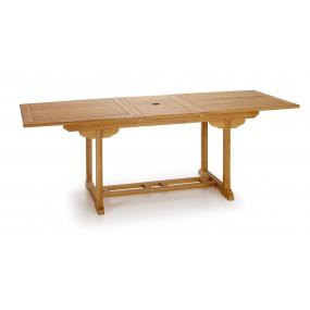 TABLE TECK NATUREL TOUAREG RECTANGULAIRE EXTENSIBLE 170-220*90*75