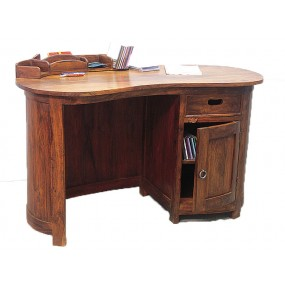 Bureau haricot 1 porte 1 tiroir Hindi