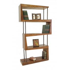 Bibliothèque destructurée barres métal / bois - HINDI